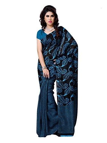 101cart Blue Color Art Silk Party Wear Saree - B00RHSB1JC