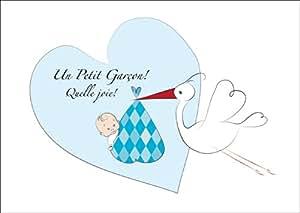 Mignonne Carte de bébé (Garçon), carte de félicitations pour la ...