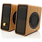 Tofern Compact Universal Hi-Fi Bamboo 3.5Mm Port 2.0 Channel Usb Powered Loud Speakers For Pc Smartphones Ipad...