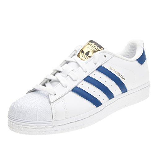 brand new 9ef61 4ff31 Adidas - Superstar Foundation J Scarpe Sportive Donna Bianche Blu S74944 -  Blanco, 36,