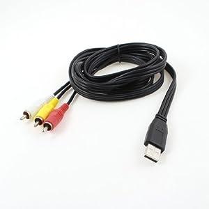 Gino VCD DVD-USB-Stecker auf 3 Cinch-Adapter AV Audio