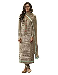 Nirali Women's Georgette Salwar Kameez Semistitched Dress Material - Free Size