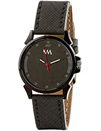 WATCH ME Black Leather Black Dial Watch For Men Black Leather Black Dial Watch For Men Watch MeAL-178