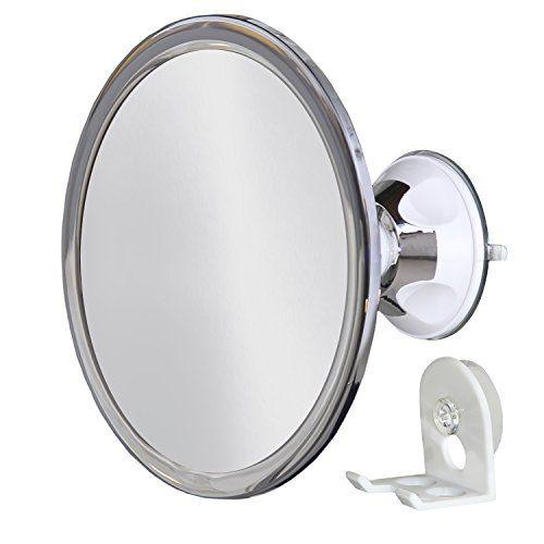 No Fog Shower Mirror with Rotating, Locking Suction; with Bonus Separate Razor Holder | Next Step in Shaving Mirror Technology | Adjustable Arm for Easy Positioning | Best Personal Mirror for Shaving You Will Ever Buy! Ideal Travel Mirror | Highest Rated Shower Mirror on Amazon