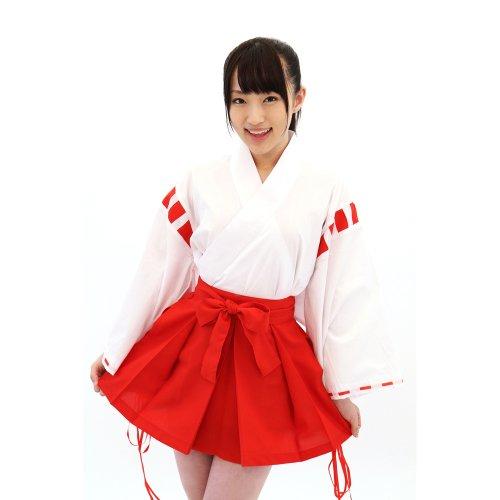 【A&TCollection】夢のなかの巫女ちゃま(ゆめのなかのみこちゃま)/ミニ巫女 白×赤★和装コスプレ