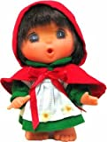 Mademoiselle GeGe Monchhichi Red Cloak Plush Doll