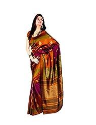 Meher Silk Autumn Allure Printed Saree (SD18102_Yellow)