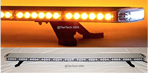 60″ Amber Clear Super Bright LED Light Bar Flashing Warning Tow Truck Wrecker Police Snow Plow with BRAKE/TURN SIGNAL LIGHTS AND CARGO LIGHTS
