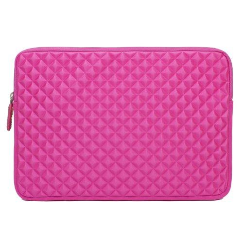 Laptop Sleeve, Evecase 11.6'' ~ 12.5'' Laptop/ Chromebook/ Ultrabook Notebook PC Diamond Foam Splash & Shock Resistant Neoprene Sleeve Case Travel Bag (Hot Pink)