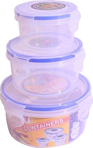 Lock & Fit Multipurpose Round Food Storage Container Set Of 3 (750 Ml, 400 Ml & 200 Ml)