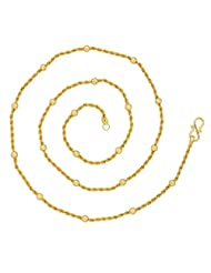 YoFashion Rope Ball 22K Gold Plated 24.8 IN Chain For Women