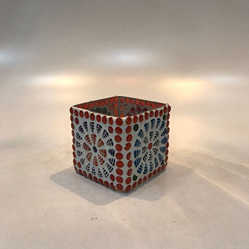 Dlite Crafts Multicolor Polka Design Home Decorative Votive Candle Holder, Set Of 2 PCs - B06XYJQCDD