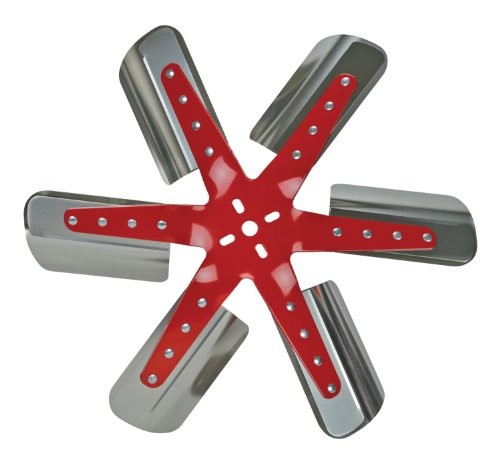 Flex-a-lite 1309 Red Star Stainless Steel Blade 19-3/8″ Flex Fan