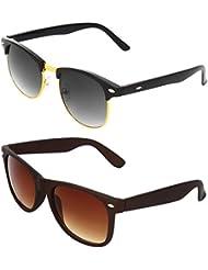 Zyaden COMBO Of Clubmaster Sunglasses & Wayfarer Sunglasses (Combo-98)