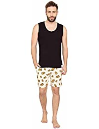 Nuteez Black Tank Top & No You Do It - Men Tank Top Shorts Set