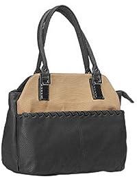NOVICZ Latest Trendy PU Leather Ladies Bag Beautiful Shoulder Bag Women'S Hand Bag Vanity Bag College Bag Black...