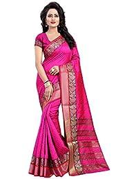 Vatsla Enterprise Women's Cotton Silk Saree (VKAABI004PINK_PINK)
