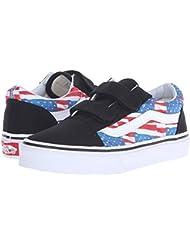 Vans Kids Free Flag Old Skool V Shoe Black/True White 12.5 Little Kid M