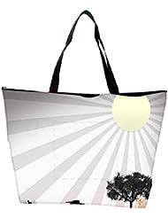 Snoogg Sun Rays Designer Waterproof Bag Made Of High Strength Nylon