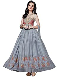 Latest Aryan Fashion Designer Heavy Gray Partywear Gown
