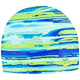 Speedo Moving Tides Cap, Green, One Size, One Size/Green