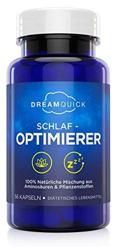 DreamQuick Schlaf-Optimierer - Natürlich wirksame Ein- und Durchschlafhilfe mit Pflanzenstoffen und Amino-Derivaten...