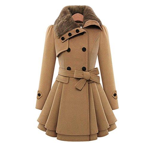 Maxquoia Damen Parka Collegejacke Trenchcoat Mantel für Übergangszeit