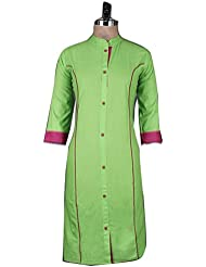 Nirja Creation's Green Color Trendy Designer Kurti
