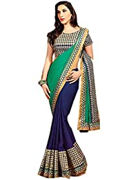 Rewa Enterprises Georgette Designer Party Wear Fancy Saree With Blouse Piece