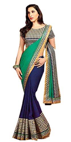 Rewa Enterprises Georgette Designer Party Wear Fancy Saree With Blouse Piece