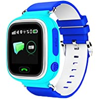 Children Positioning Watch Phone Touch Screen Waterproof GPS Positioning Students Watch Quadruple Large Color...