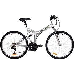 Stowabike 26 Folding Dual Suspension Mountain Bike 18 Speed Shimano Bicycle