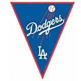 Amscan Timeless Los Angeles Dodgers Major League Baseball Pennant Banner, 12', Blue