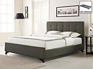 Polsterbett 160x200 cm - Bett - Stoffbett inkl. Lattenrost