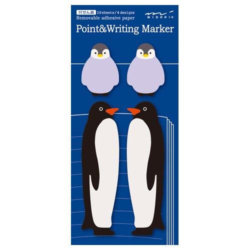 ポイントアンドライティングマーカー 付せん紙・ペア【ペンギン】 11751-006