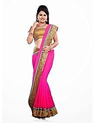 Famacart Women's Saree Partywear Fashion Chiffon Sari