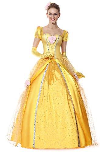 Halloween 2017 Disney Costumes Plus Size & Standard Women's Costume Characters - Women's Costume Characters Women's Deluxe Princess Belle Costume - standard to plus size
