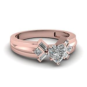 Fascinating Diamonds 1.40 Ct Heart Shaped Diamond Serenity Elegance Channel Set Engagement Ring 14K GIA