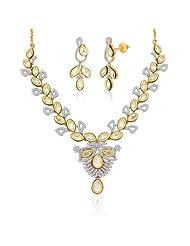 """Peora 18 Karat Gold Plated Kundan """"Amodini"""" Necklace Earrings Set (PN419GJ)"""