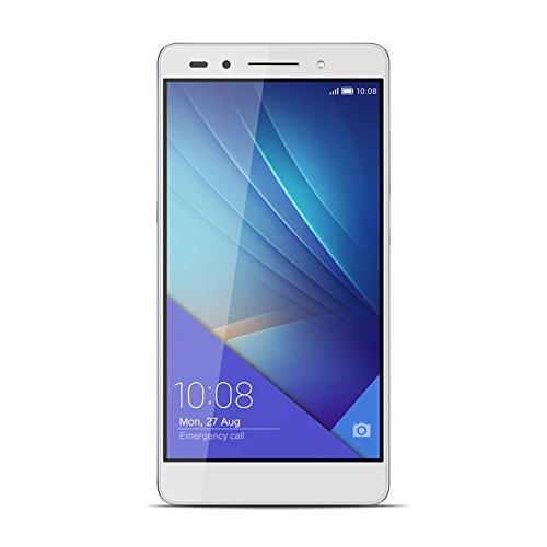 "Honor 7 - Smartphone de 5.2"" (4G, WiFi, Bluetooth, Dual Nano SIM, HiSilicon Kirin 935, 64 bit Super 8+1 Core, 2.2 GHz, 3 GB de RAM, 16 GB ROM, cámara de 20 MP/8 MP, Android 5.0 con EMUI 3.1) plateado"
