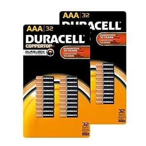 Amazon.com: Duracell Batteries, Alkaline, AAA 32 batteries