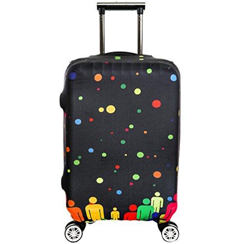 YiJee Thicken Wearproof Elasticidad Cubierta de Equipaje de Viaje Maleta Funda Protectora 18-32 Pulgadas Como La Imagen 7 M
