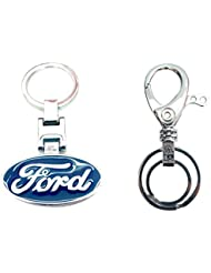 City Choice Combo Of Ford & Unique Design Hook & Locking Full Metal Keychain