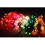 Motoway Decoration Lighting For Diwali Christmas Rice Lights Serial Bulbs - SET OF 8