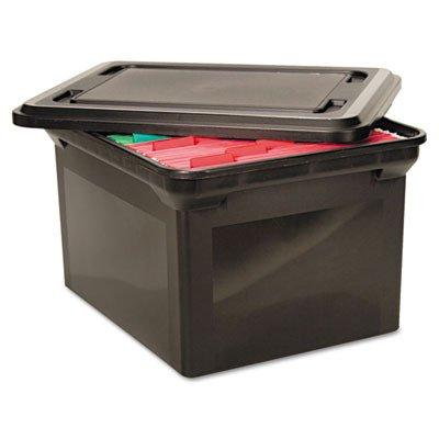 Advantus Legal/Letter File Tote Storage Box with Lid