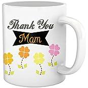 Tied Ribbons Teachers Day|teacher Thank You Mam Printed Coffee Mug(325 Ml, White)