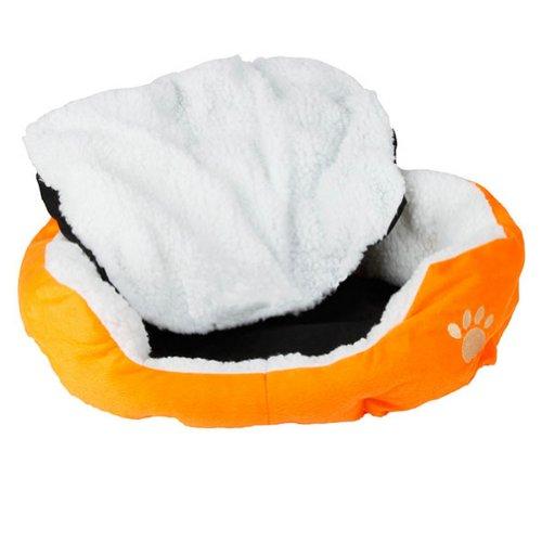 Urparcel Comfortable Pet Dog Cat Puppy Kitten Soft Fleece Bed Nest Pad Mat Orange S