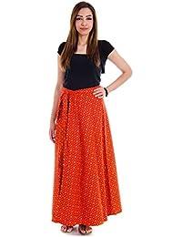 Shop Hatke Now Latest 2017 Jaipuri Trendy Block Print Maroon Yellow Wrap Around Skirt 120