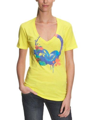 Vans Harmonic - Camiseta para mujer, tamaño M, color amarillo