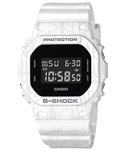 Casio G-Shock DW-5600 Slash Pattern Stylish Watch - White / One Size